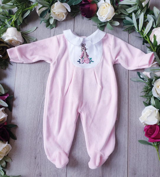 flopsy bunny baby girls velour beatrix potter collection