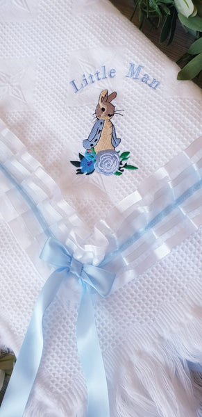 Peter Rabbit Blanket - Blue Trim