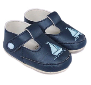 little cutie soft sole pram crib shoes sailor baby boys navy shoes first walkers occasion shoes