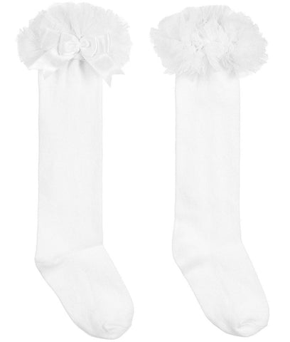 Beau Kid White Tutu Knee Length Socks