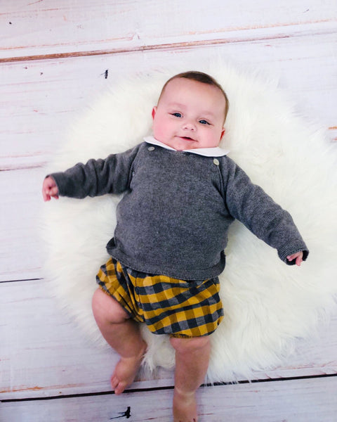 Ceyber Baby Boys Three Piece Grey/Mustard Set