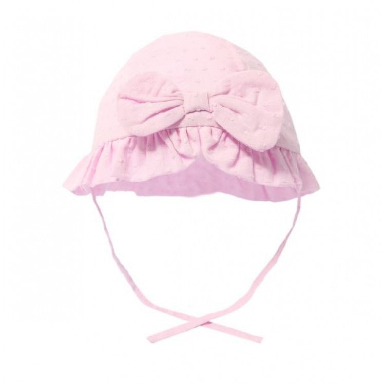 soft touch baby girls pink dotty bow hat with tie pink summer hats soft touch cotton