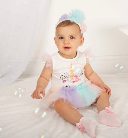 caramelo kids Baby unicorn tutu set with leggings