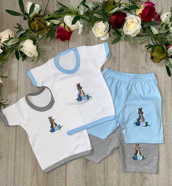Peter Rabbit Top and Shorts Set - Grey