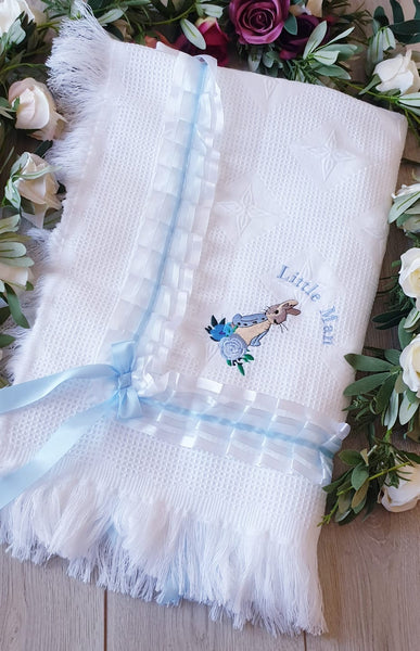 little man peter rabbit luxury blanket beatrix potter