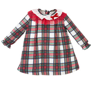 alber baby girls checked tartan check dress dresses