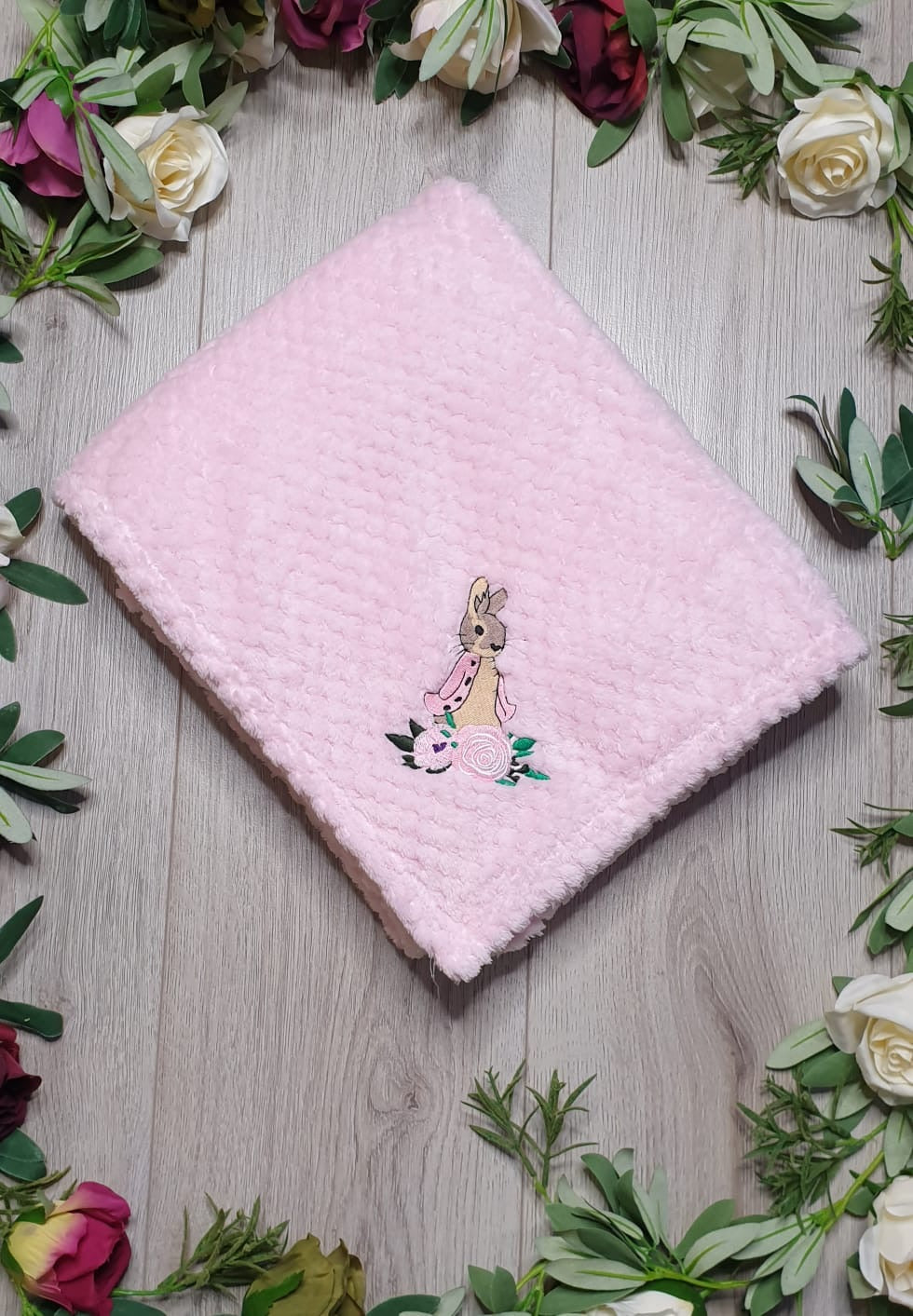 soft fleece blanket pink flopsy bunny beatrix potter