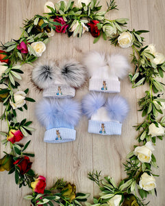 Peter Rabbit Fur Pom Pom Hat