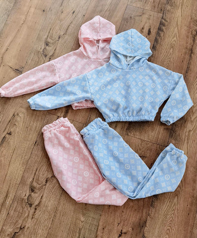 louis vuitton girls hooded hoodie loungewear tracksuit
