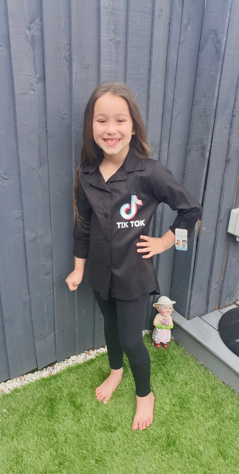 Girls TikTok Shirt - Black