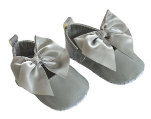 soft touch soft sole shoes grey large bow