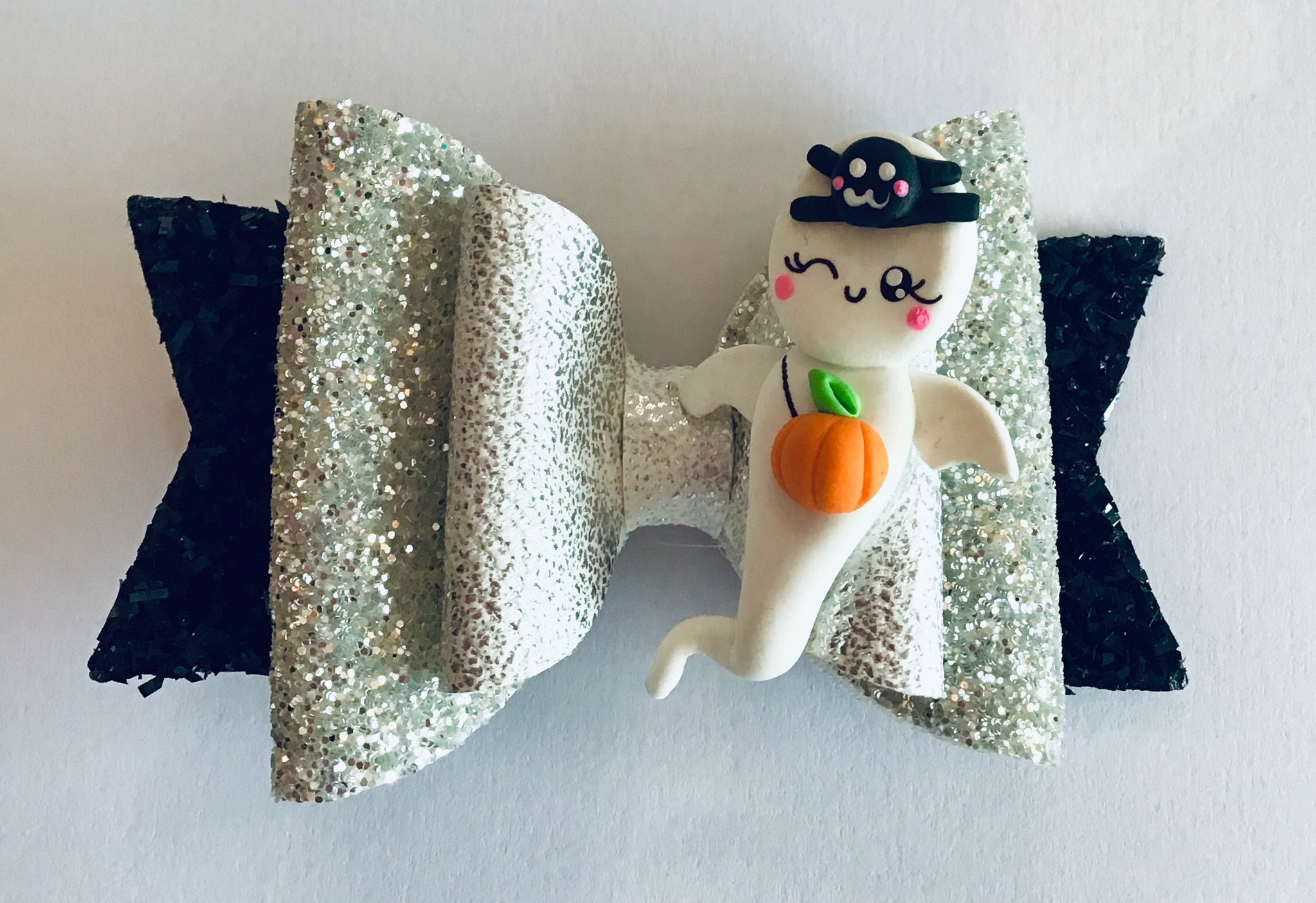 halloween ghost glitter crocodile hair clip hair bows accessories