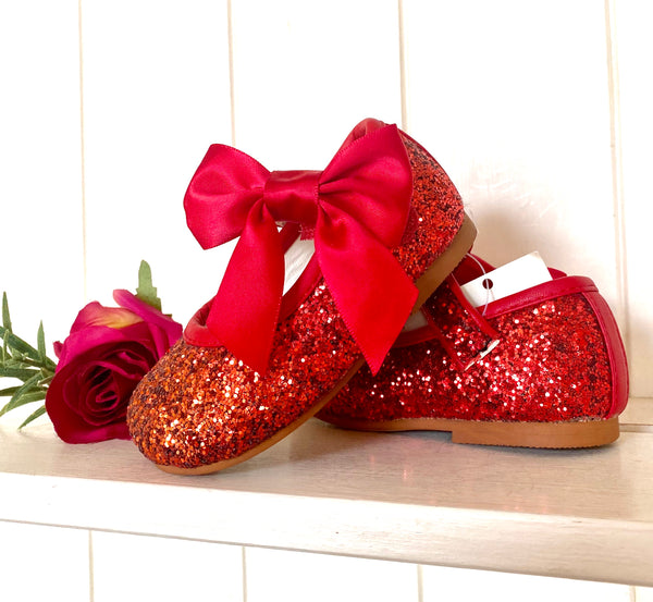 Couche Tot Mary Jane Shimmer Shoe - Side Bow