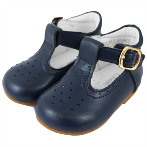 couche tot navy baby boys hard sole h bar shoes gillytots childrens boutique
