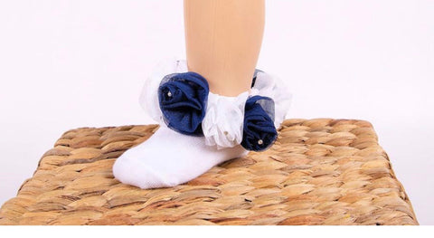 beau kid rose bud school socks navy white gillytots childrens boutique