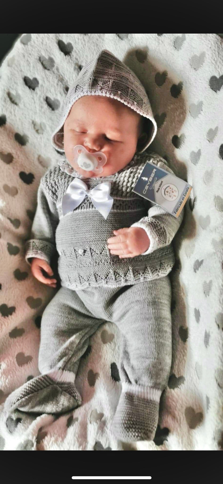 Ceyber Knitted Outfit - Grey