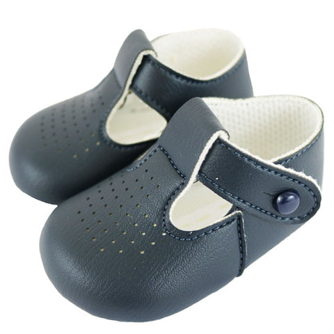 baypods bay pods baypod navy soft sole pram shoes