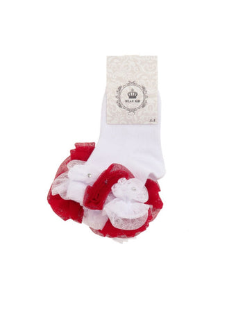 beau kid rose bud tutu socks with gems dimantes gillytots childrens boutique