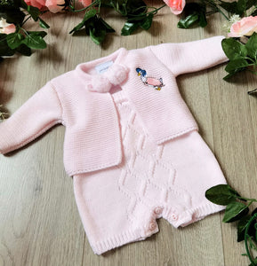 baby girls premature tiny baby small baby knitted two piece set