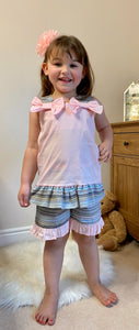 Girls Two Piece Top and Shorts Set