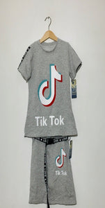PRE ORDER - Girls Top and Skirt Set - Grey