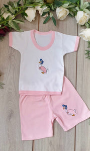 jemima puddleduck top and shorts set pink beatrix potter