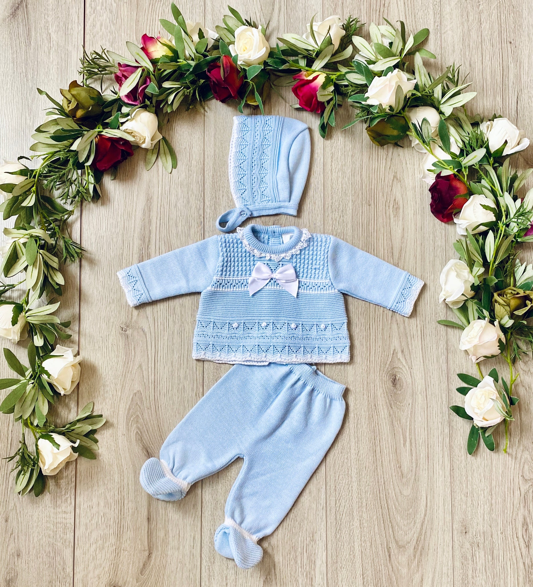 Ceyber Knitted Outfit - Light Blue