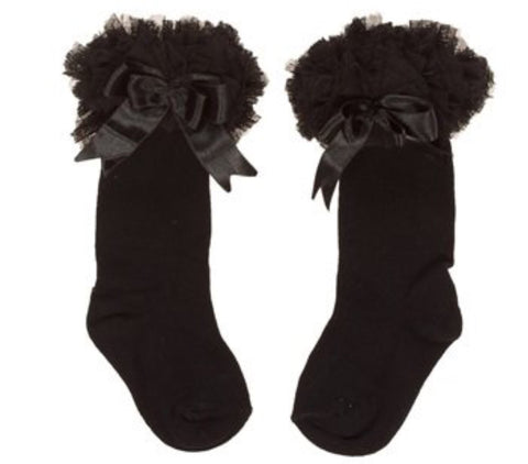 Caramelo kids Black Tutu Socks Long