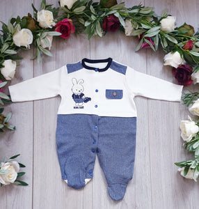 baby boys all in one babygrow gillytots
