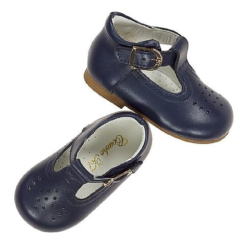Couche Tot Boys Johnathan H Bar Shoes - Navy
