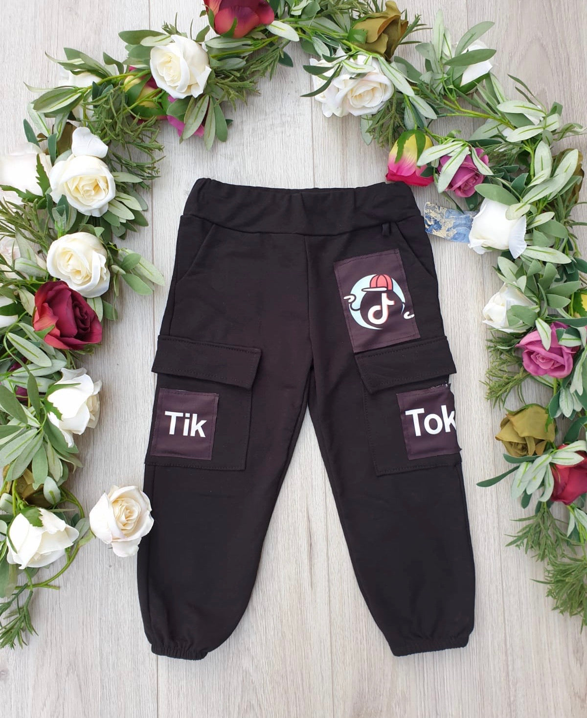 Boys TikTok Black Pants