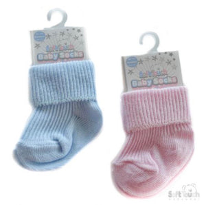 newborn baby soft touch baby socks pink blue