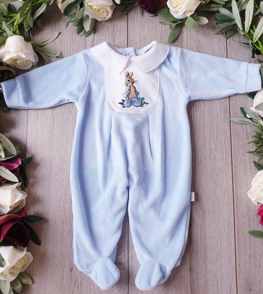 peter rabbit beatrix potter baby boys babygrow all in one gillytots