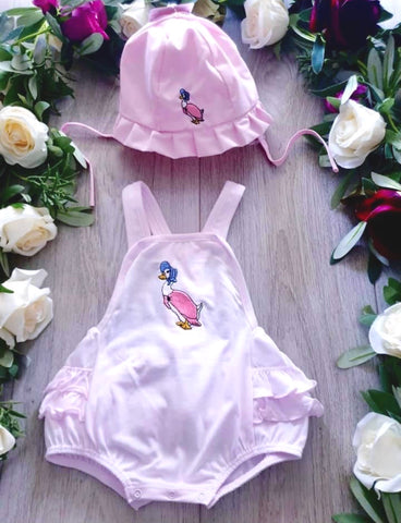 jemima puddleduck all in one baby pink romper beatrix potter baby collection peter rabbit baby clothes