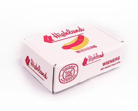5LB BOX OF REGULAR HOT DOGS