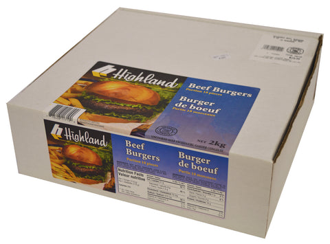 BEEF BURGER (SEASONED) 2KG BOX