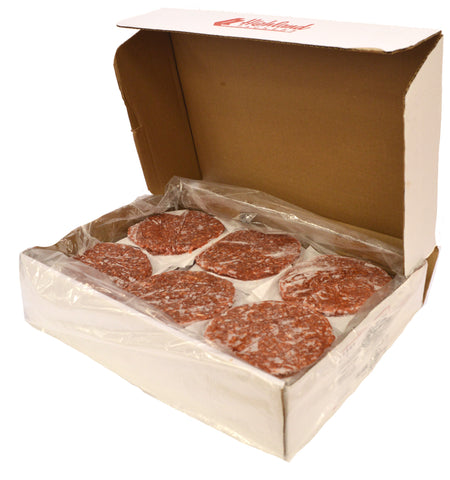 BEEF BURGER (UNSEASONED) 4oz 10LB BOX 40 PATTYS