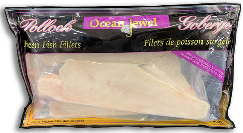 FROZEN - FILLETS OF FISH POLLOCK - 400G