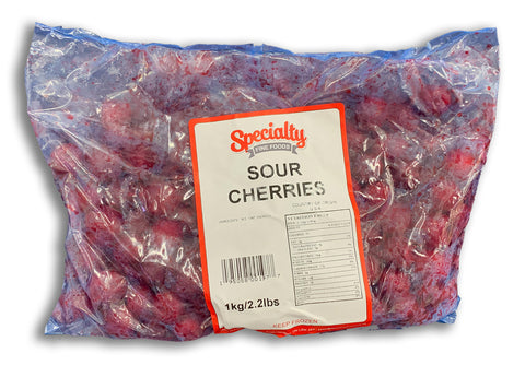 FROZEN - WHOLE SOUR CHERRIES - 1KG
