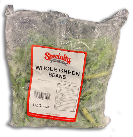 FROZEN WHOLE GREEN BEANS 2.2LB BAG