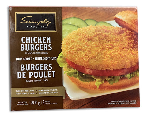 FROZEN CHICKEN BURGERS - 800G