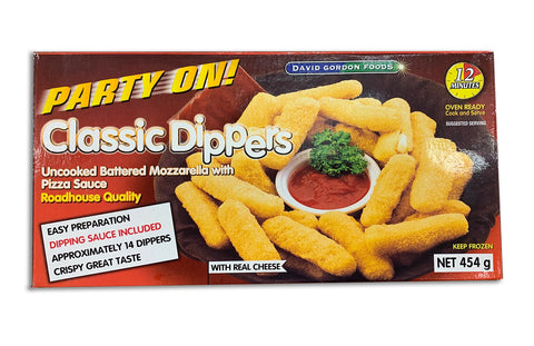 FROZEN - MOZZARELLA STICKS WITH PIZZA SAUCE - 454G