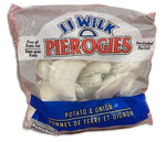 FROZEN - JJ WILK - POTATO AND ONION  PIEROGIES - 907G