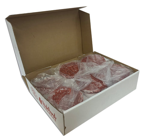 BEEF PATTY (UNSEASONED BURGERS) 6OZ 10LB BOX