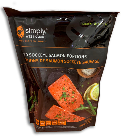FROZEN - WILD SOCKEYE SALMON PORTIONS 340G