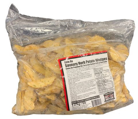 FROZEN SAVOURY HERB POTATO WEDGES 5 LB BAG