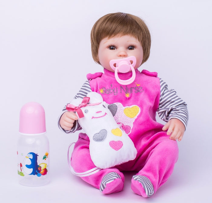 40cm Soft Body Silicone Reborn Baby Doll