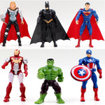 1pcs superhero Avengers Iron Man Hulk Captain America Superman Batman Action Figures