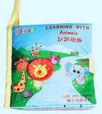 1pcs Jollybaby Cloth book Early educational Number cognitive colorful cloth book