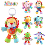 1pcs Jollybaby Multifunctional Baby Toys Animal Plush Toys Rattle